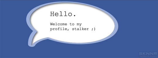 Hello Stalker Facebook Cover