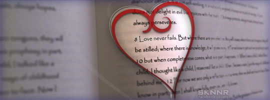 Love Never Fails Facebook Cover