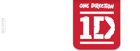 One Direction White 2 Facebook Cover