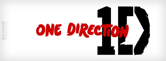 One Direction White Facebook Cover